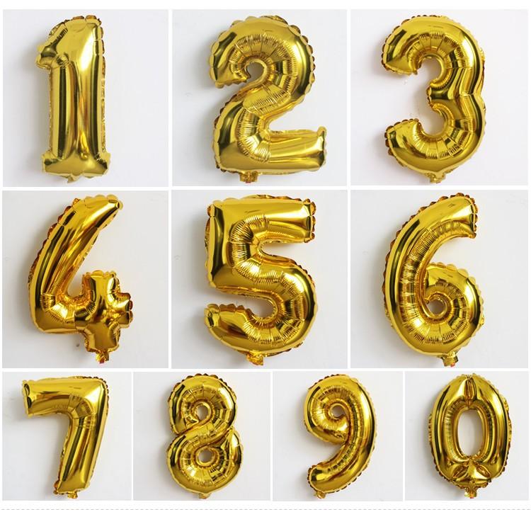 Balões Metálicos Números 16 Polegadas