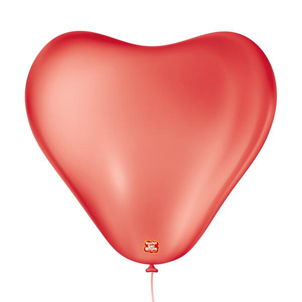 Balões São Roque  Coração Vermelho Quente  N°6