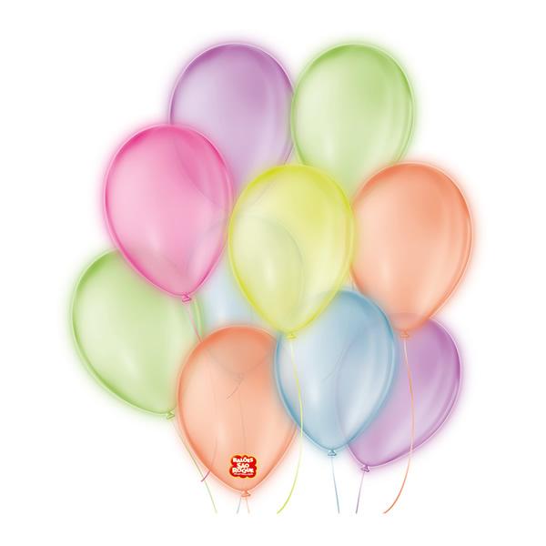 Balões São Roque Neon Nº9 / 25 Unidades