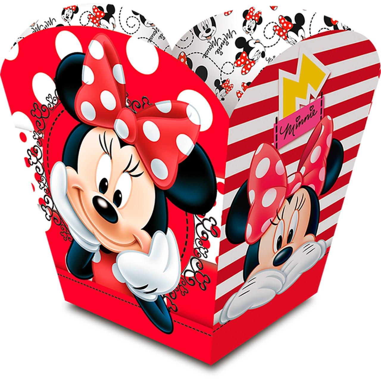 Cachepot Minnie Mouse/ 08 Unidades