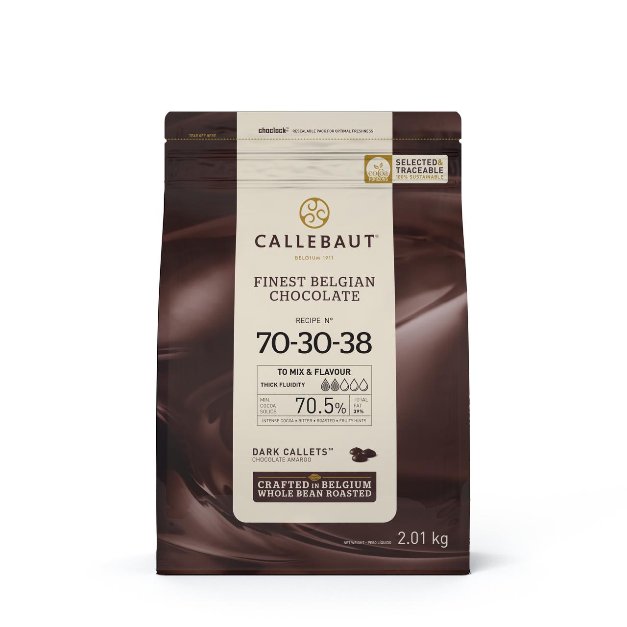 Callebaut 70 30 38 Chocolate Amargo 70,5% Callets 2,01kg