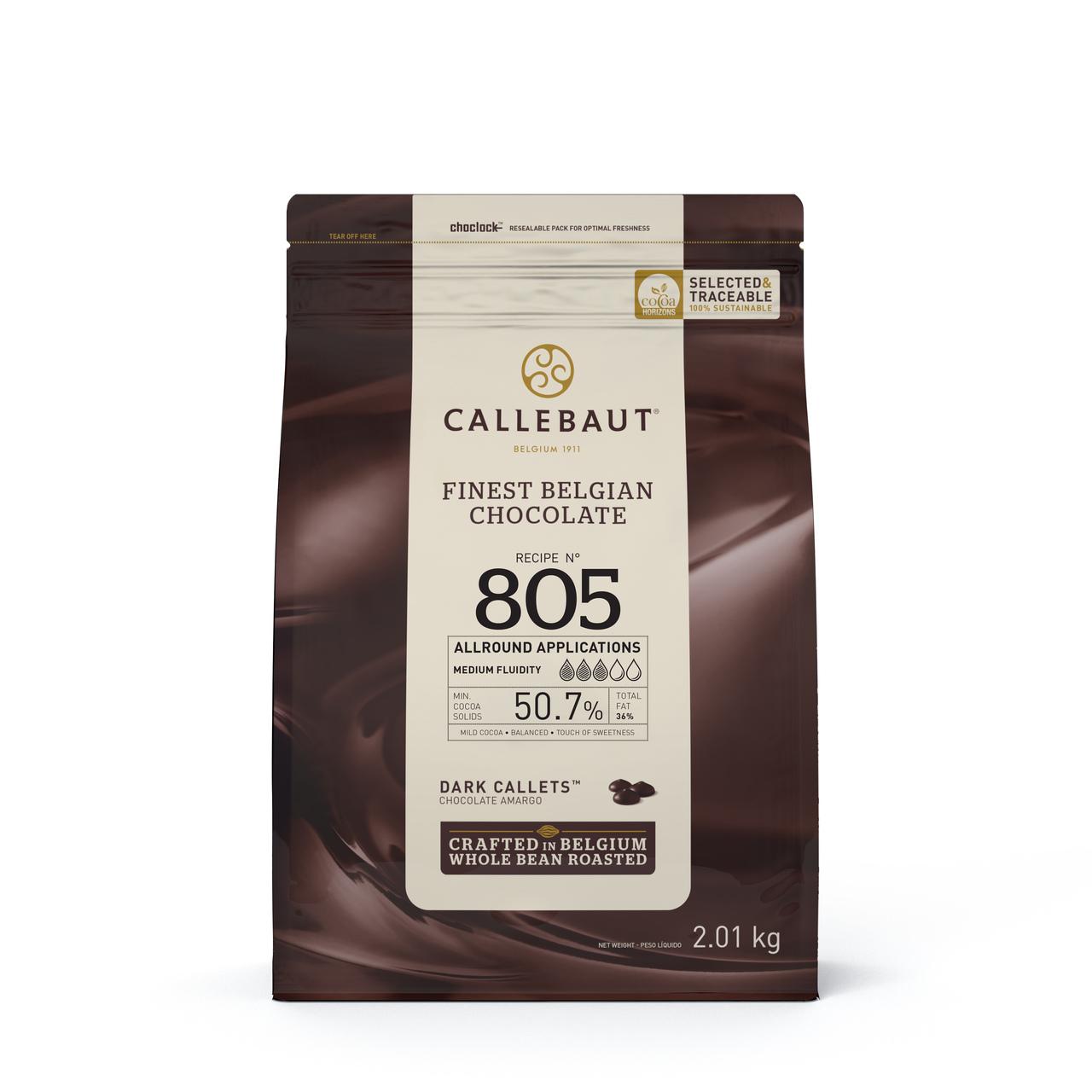Callebaut 805 Chocolate Amargo 50,7 Callets 2,01 k