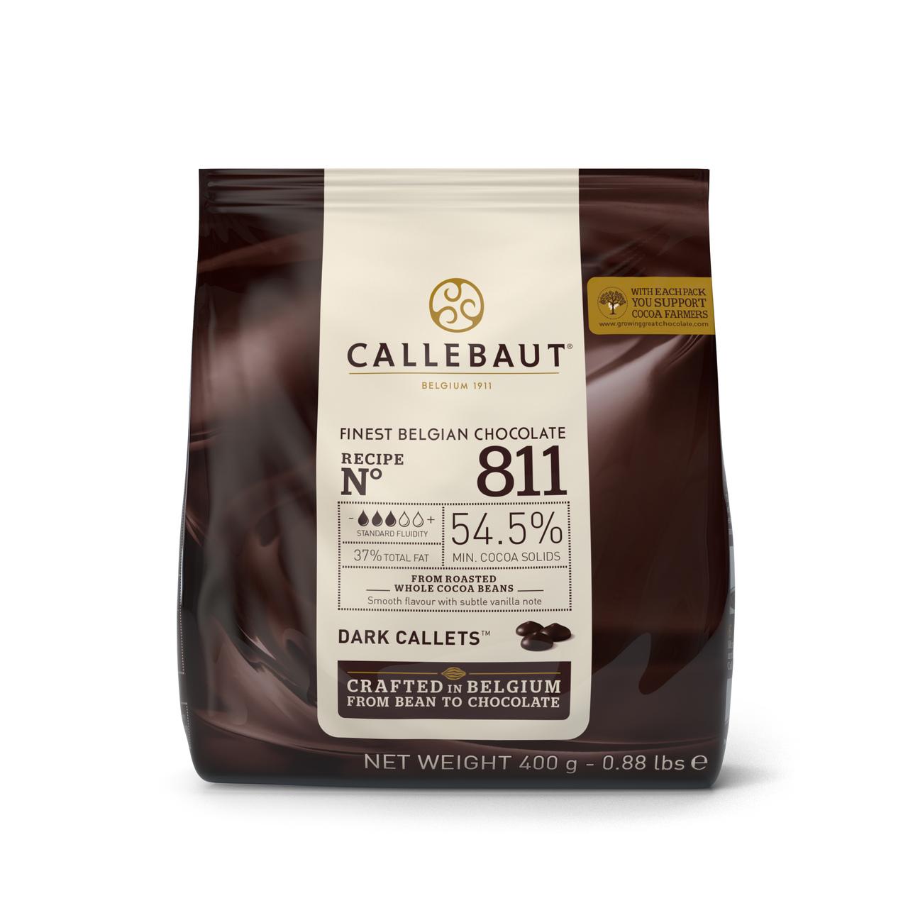 Callebaut 811 Chocolate Amargo 54,5% Callets 0,4kg