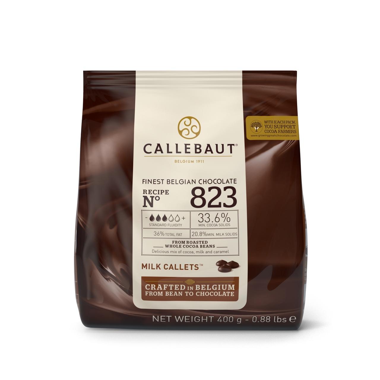 Callebaut 823 Chocolate Leite 33,6% Callets 0,4kg