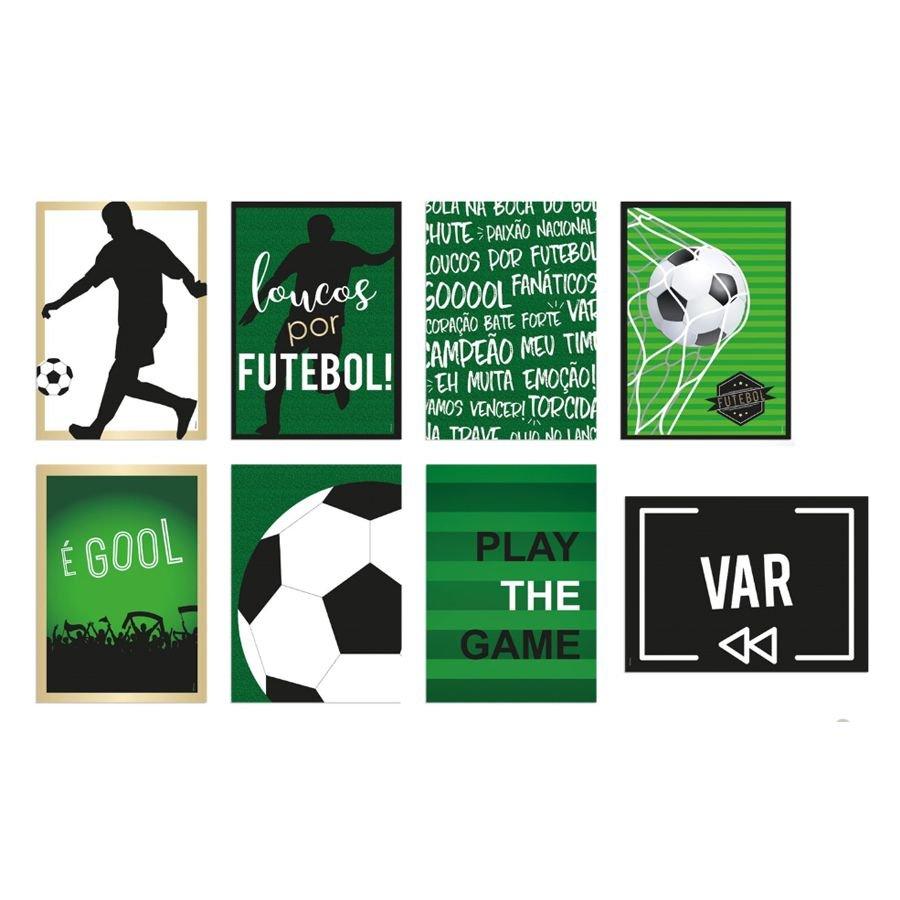 Quadros Decorativos Futebol / 08 Unidades