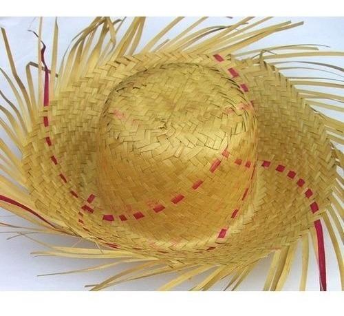 Chapéu de Palha Desfiado Colorido