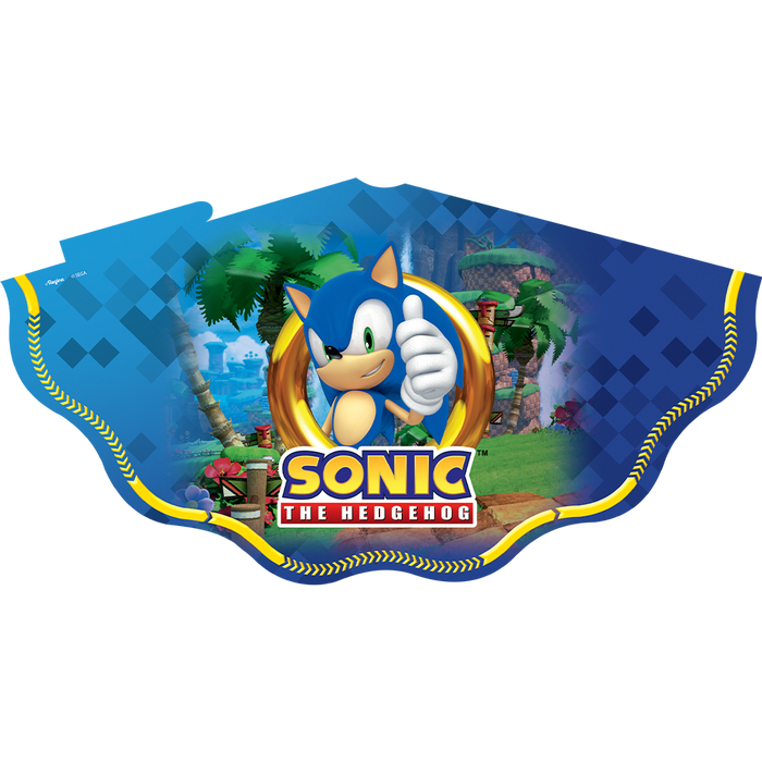 Chapéu de papel Sonic/ 25 Unidades