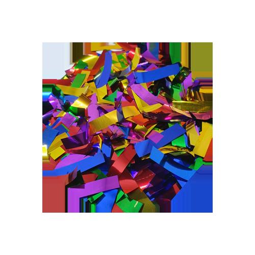 Chuva Colorida Popper Confetes Retangulares Coloridos Metalizados
