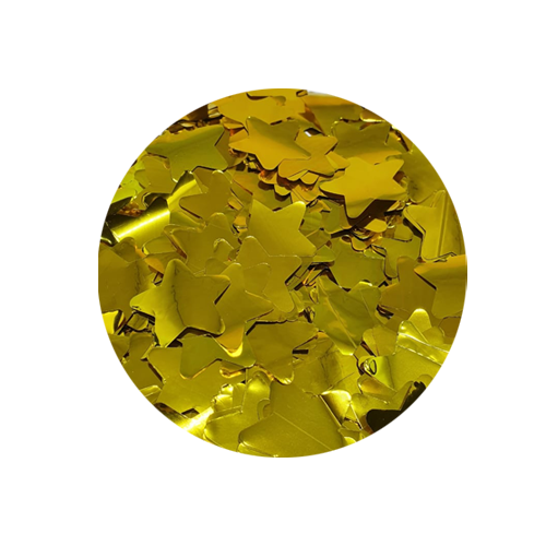 Chuva de Estrelas Popper Confetes de Estrelas Douradas Metalizadas