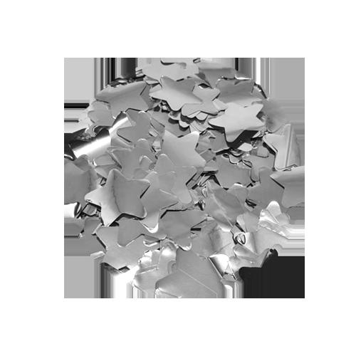 Chuva de Estrelas Popper Confetes de Estrelas Prateadas Metalizadas