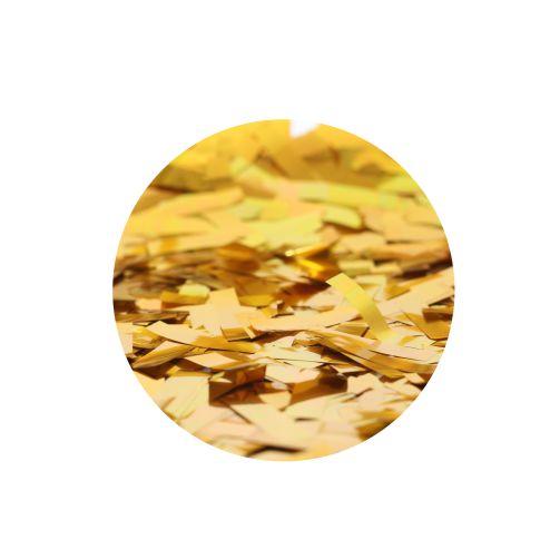 Chuva de Ouro Popper Confetes Retangulares Dourados Metalizados