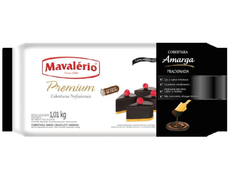 Cobertura Premium Sabor Chocolate Amargo Mavalério 1,01 kg