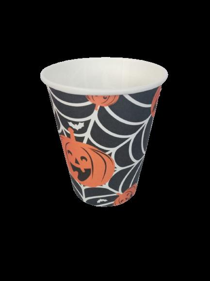 Copo 270 ml Abobora Halloween / 10 unidades