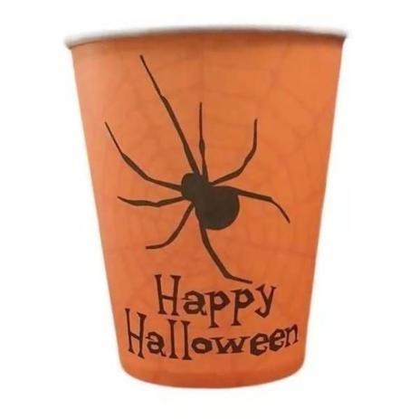 Copo 270 ml Aranha Halloween / 10 unidades