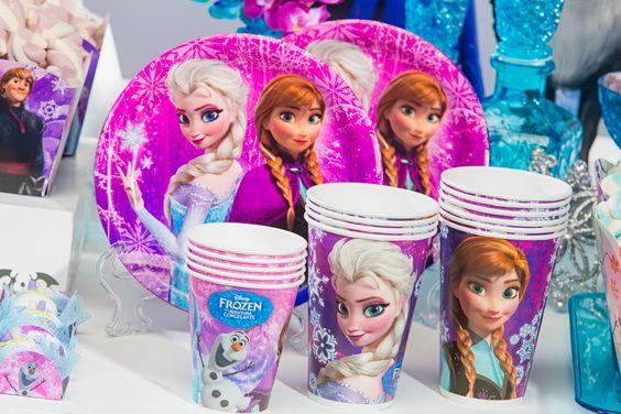 Copo De Papel Frozen 180 ml