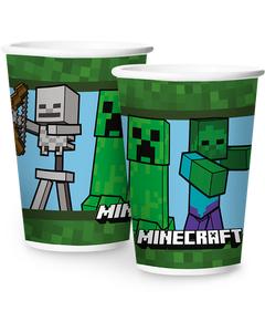 Copo De Papel Minecraft 180 ml/ 12 Unidades