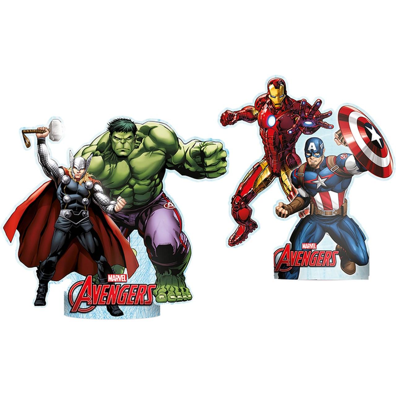 Decoração De Mesa Avengers/  06 Unidades