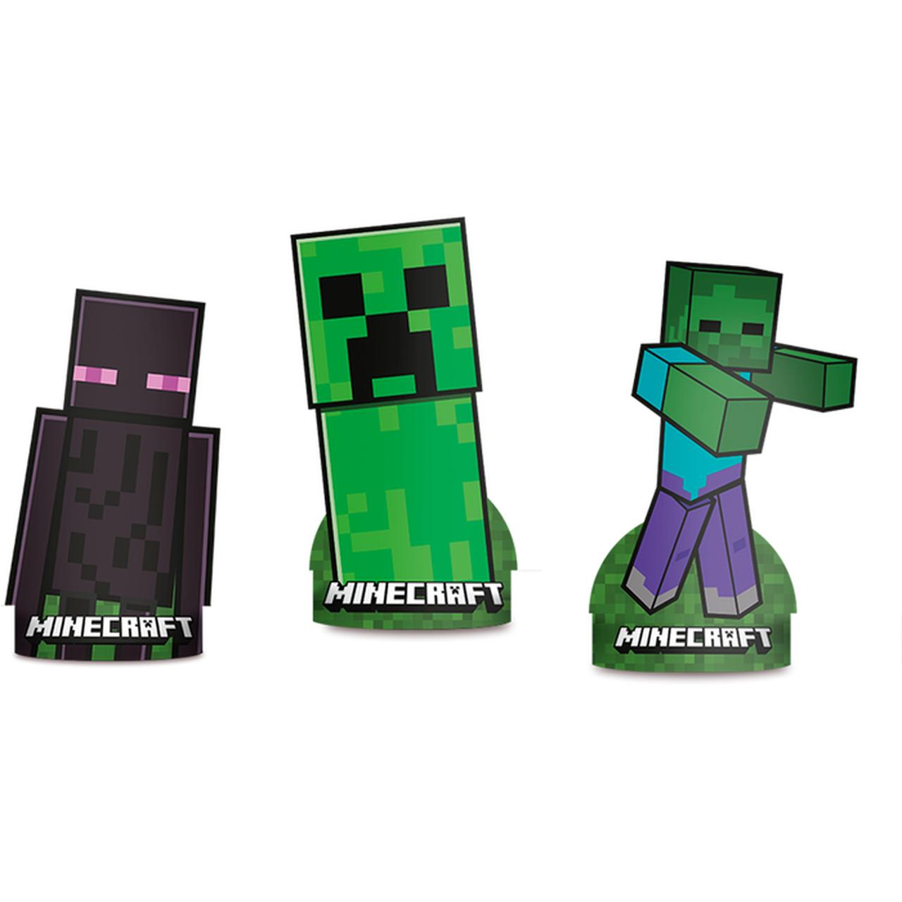 Decoração De Mesa Minecraft/ 06 Unidades