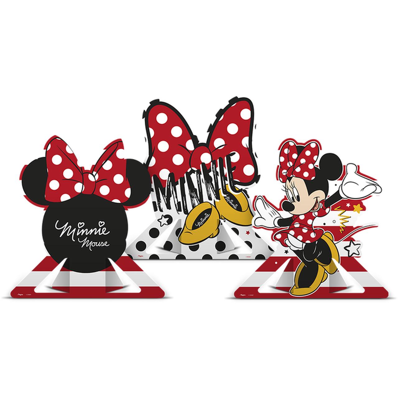 Decoração De Mesa Minnie Mouse/ 06 Unidades