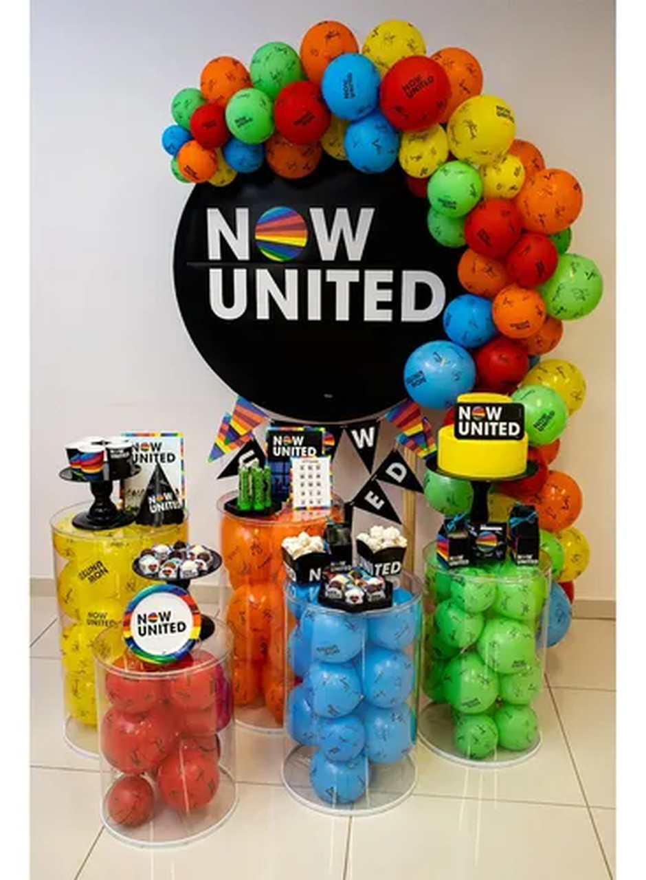 Decoração De Mesa Now United/ 04 Unidades