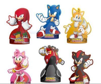 Decoração De Mesa Sonic/ 06 Unidades