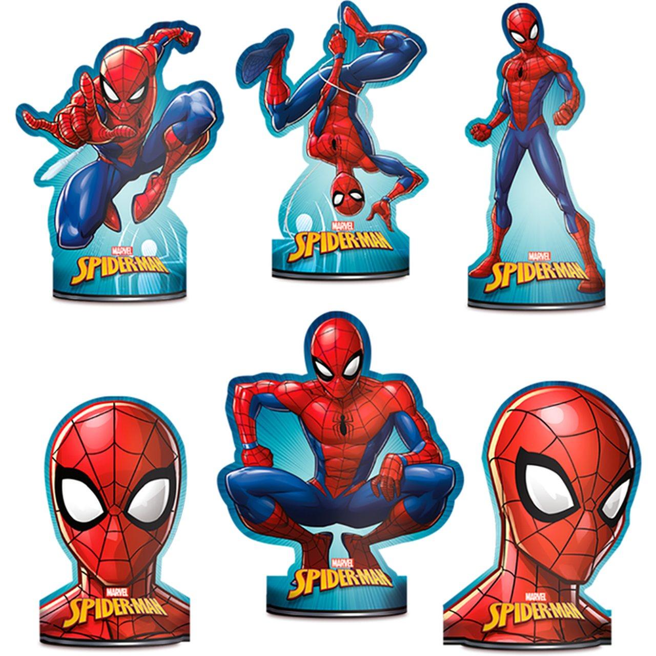 Decoração De Mesa Spider-Man / 06 Unidades