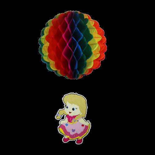 Enfeite Junino Decorativo Balão Menina