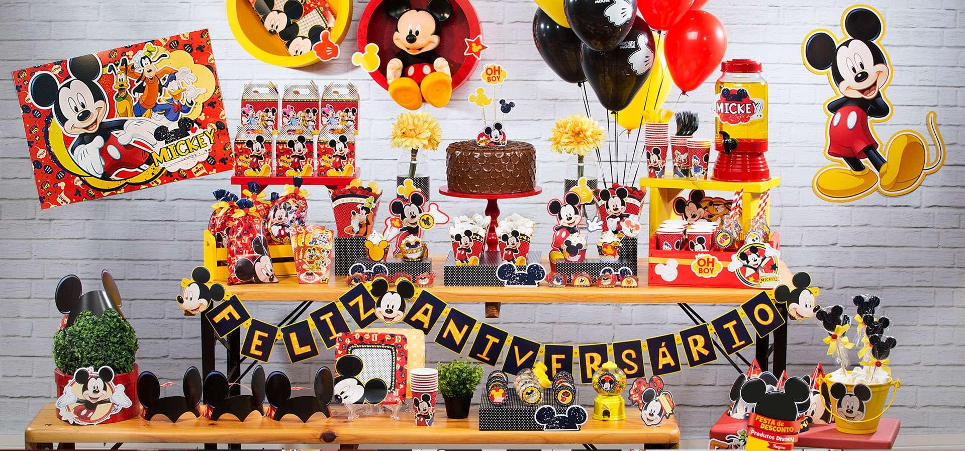 Faixa Feliz Aniversário  Mickey Mouse