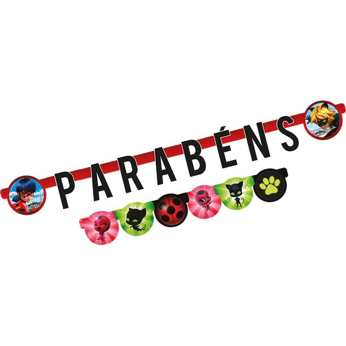 Faixa Parabéns Ladybug