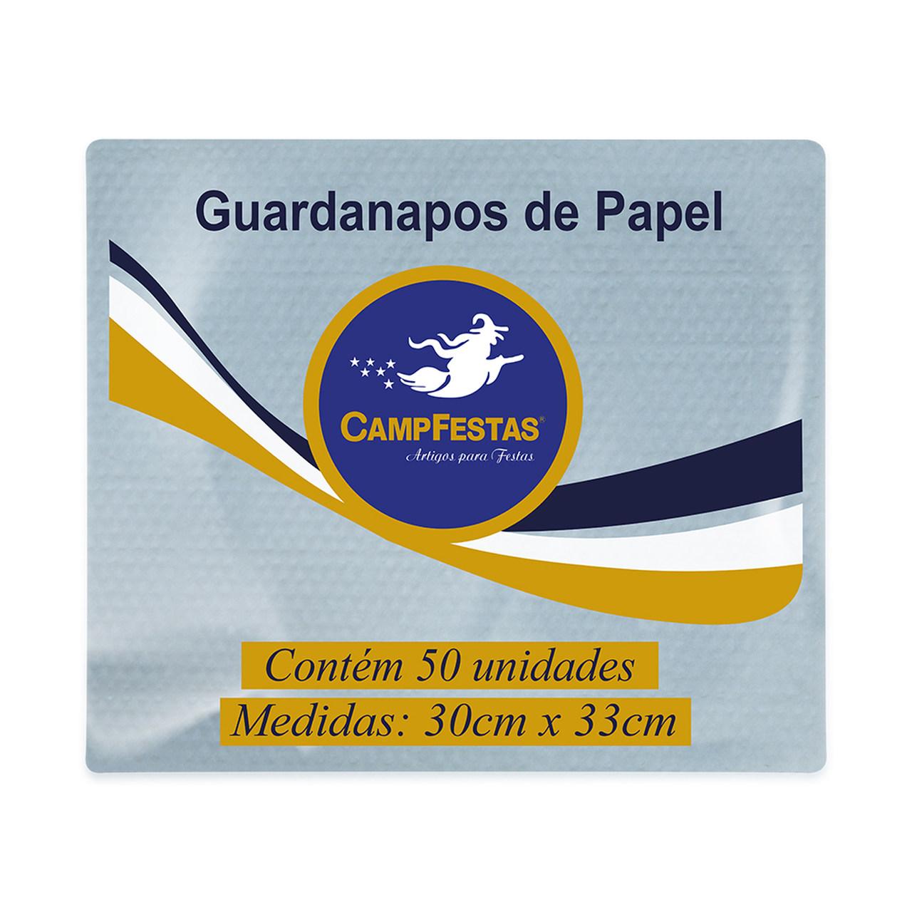 Guardanapo Crepado Folha Simples-CAMPFESTAS/ 50 Unidades