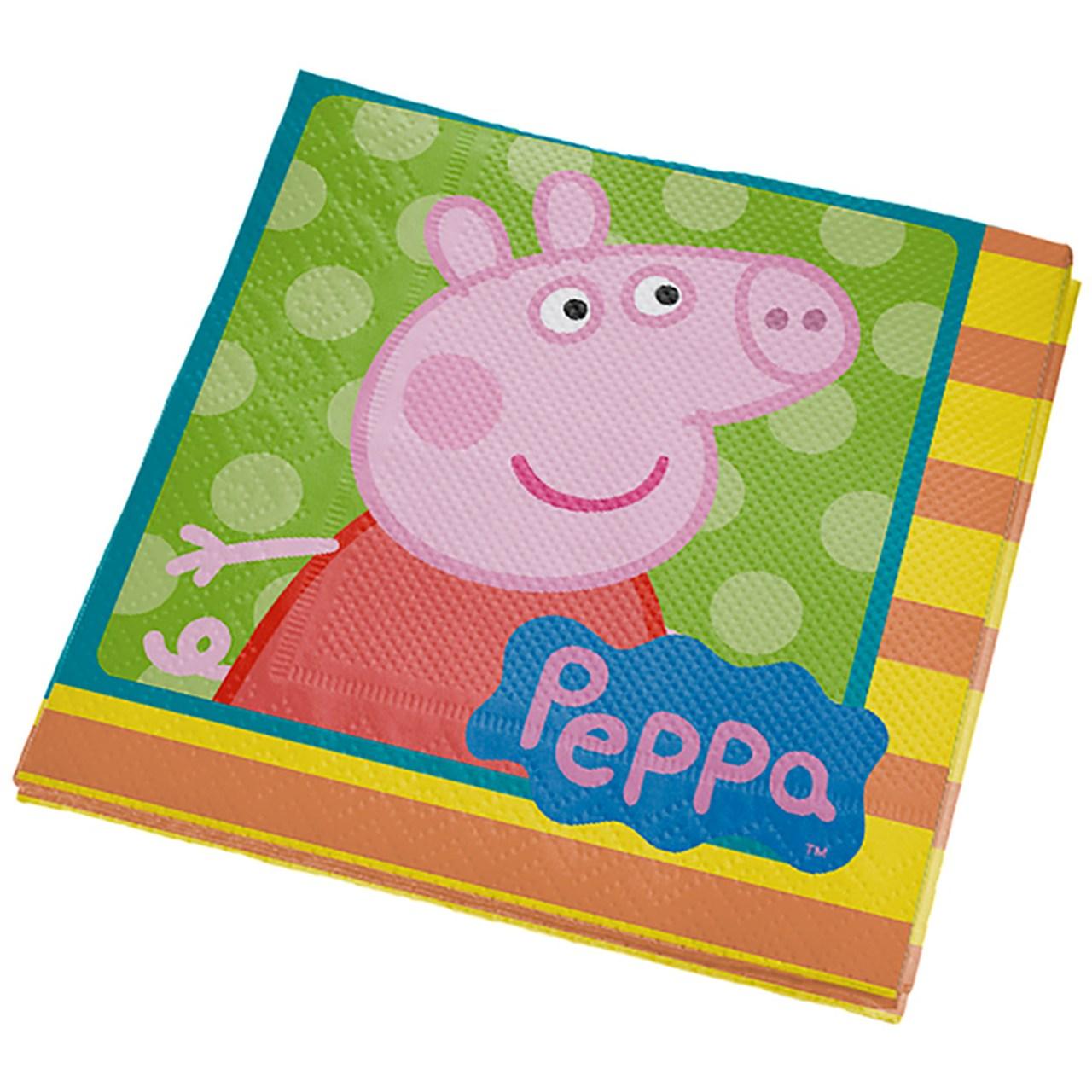 Guardanapo De Papel Peppa Pig Clássica / 16 unidades