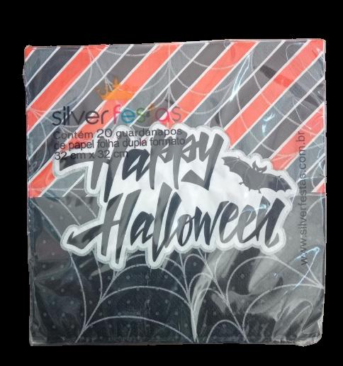Guardanapo Estampado De Folha Happy Halloween / 20 Unidades