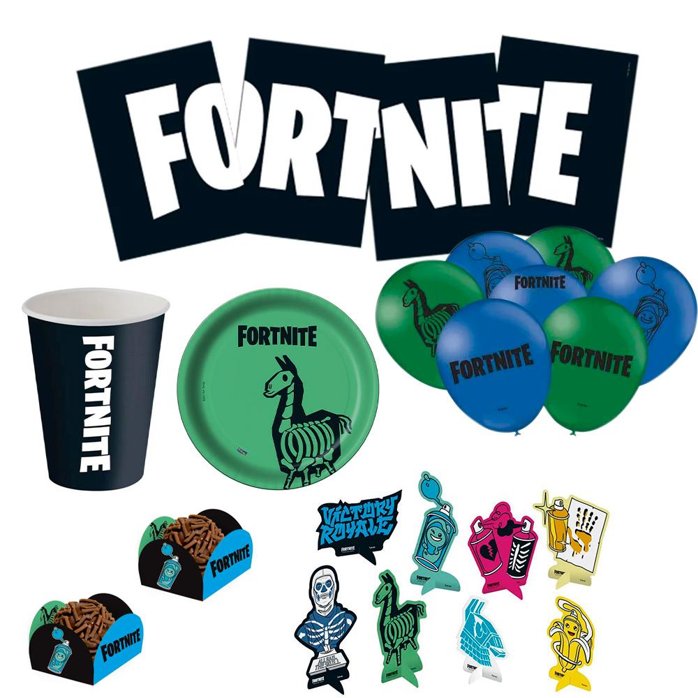 Kit Festa infantil Fortnite Completa