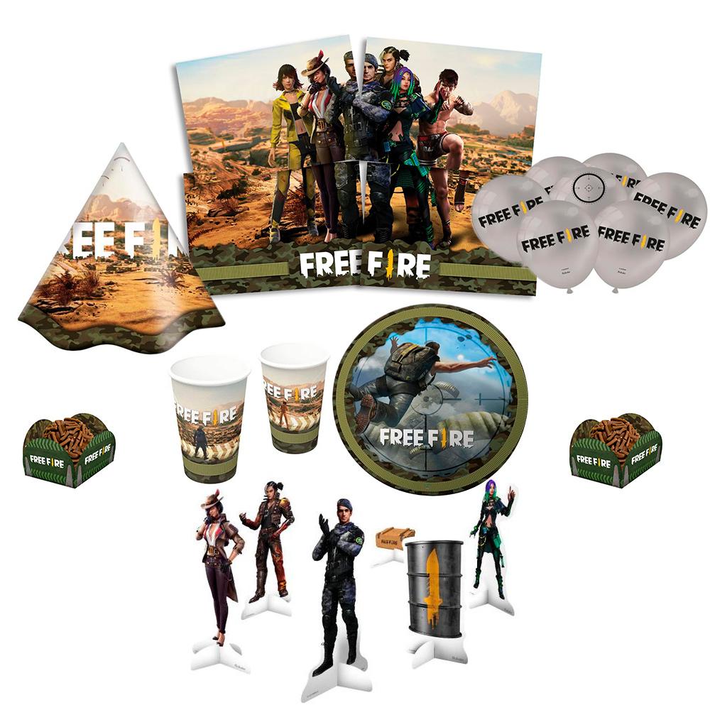 Kit Festa infantil Free Fire Completa.