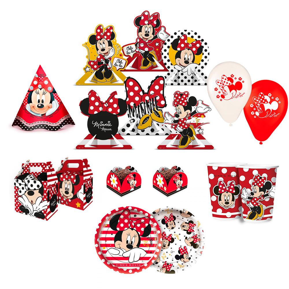 Kit Festa infantil Minnie Mouse Completa.