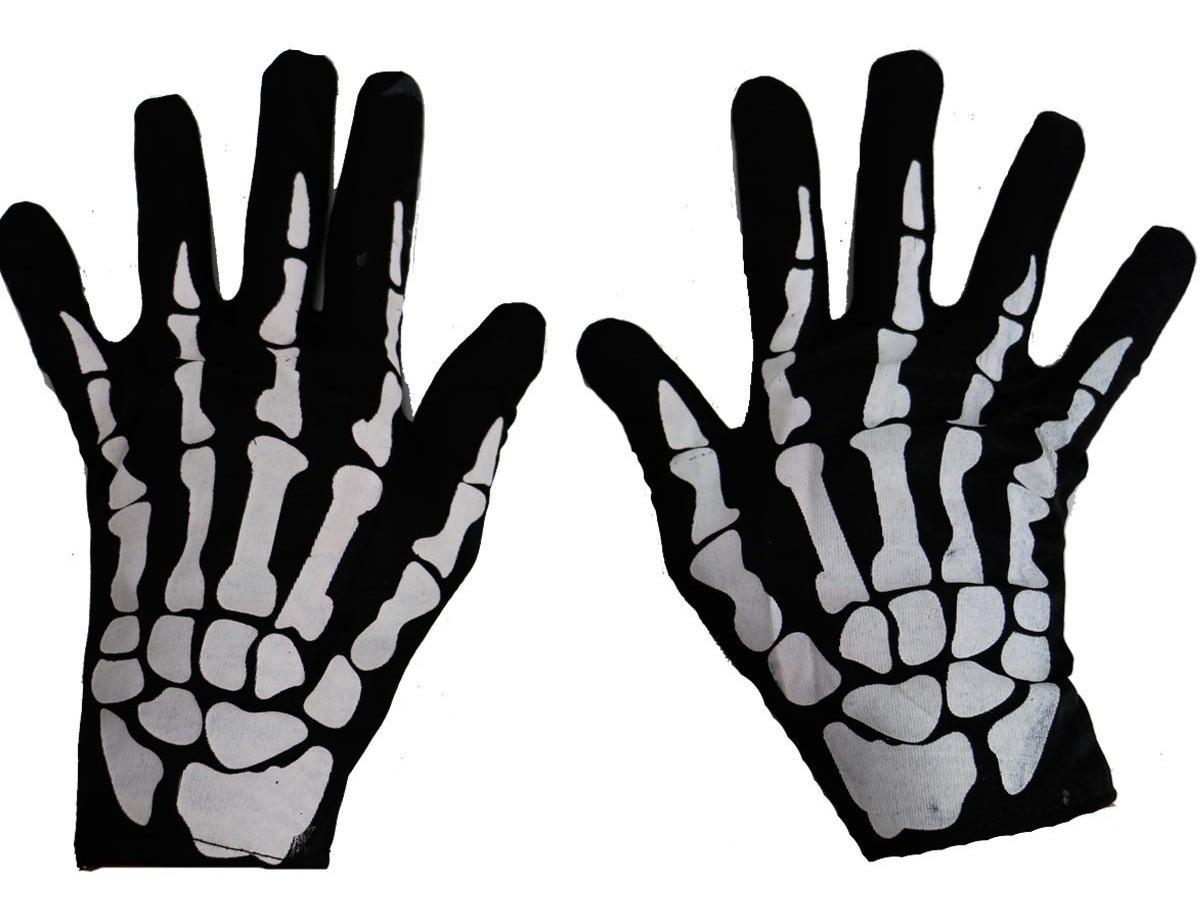 Luva Esqueleto Halloween  / 01 unidade