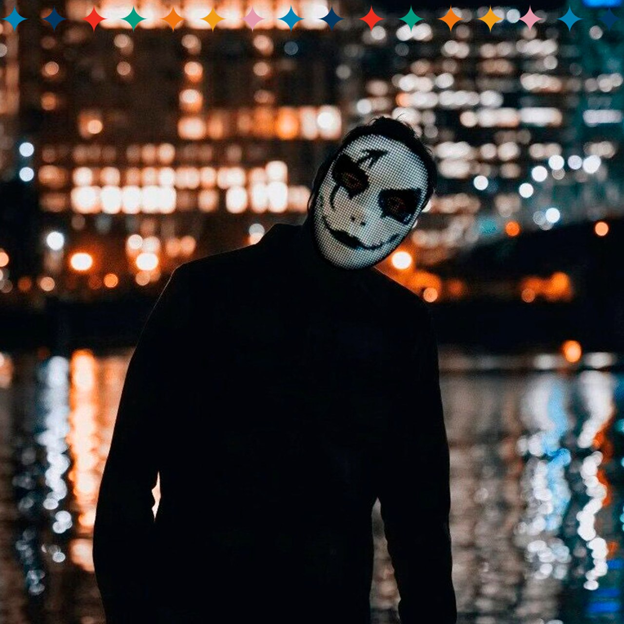 Máscara De Luzes Customizável /01 Unidade