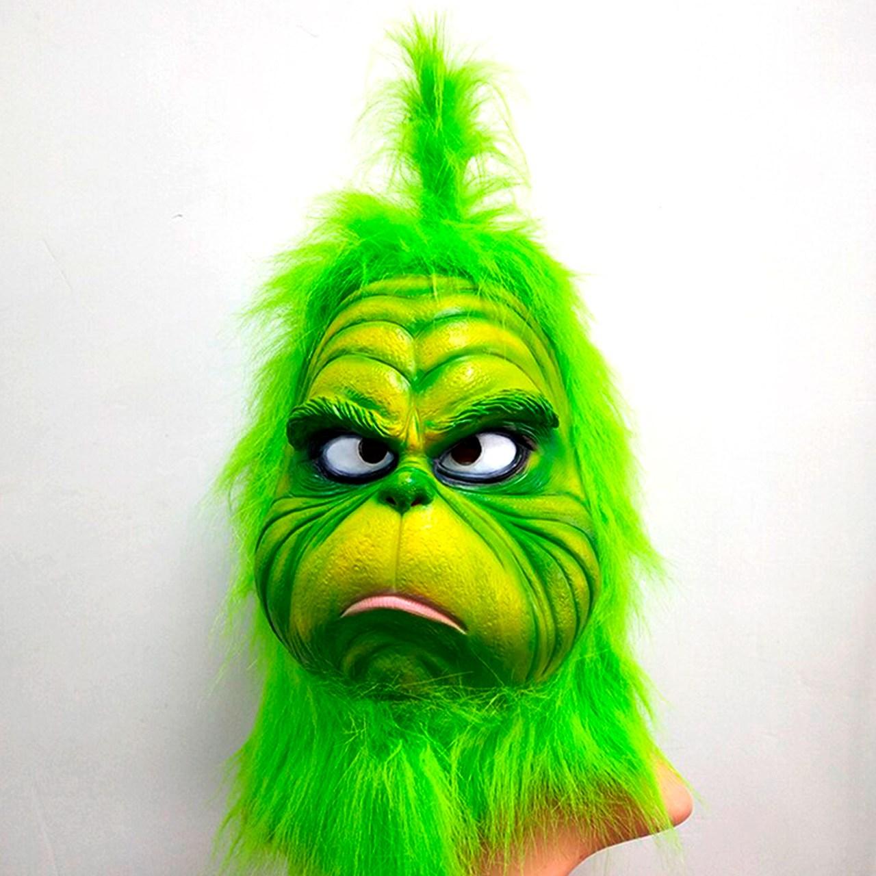 Máscara Grinch Halloween Látex / 01 unidade