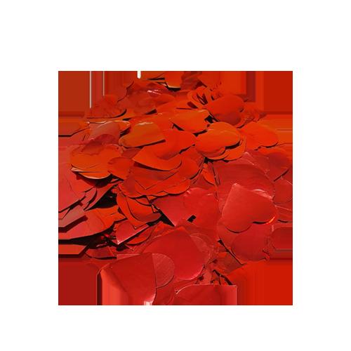 New Hot Popper Confetes de Corações Vermelhos Metalizados