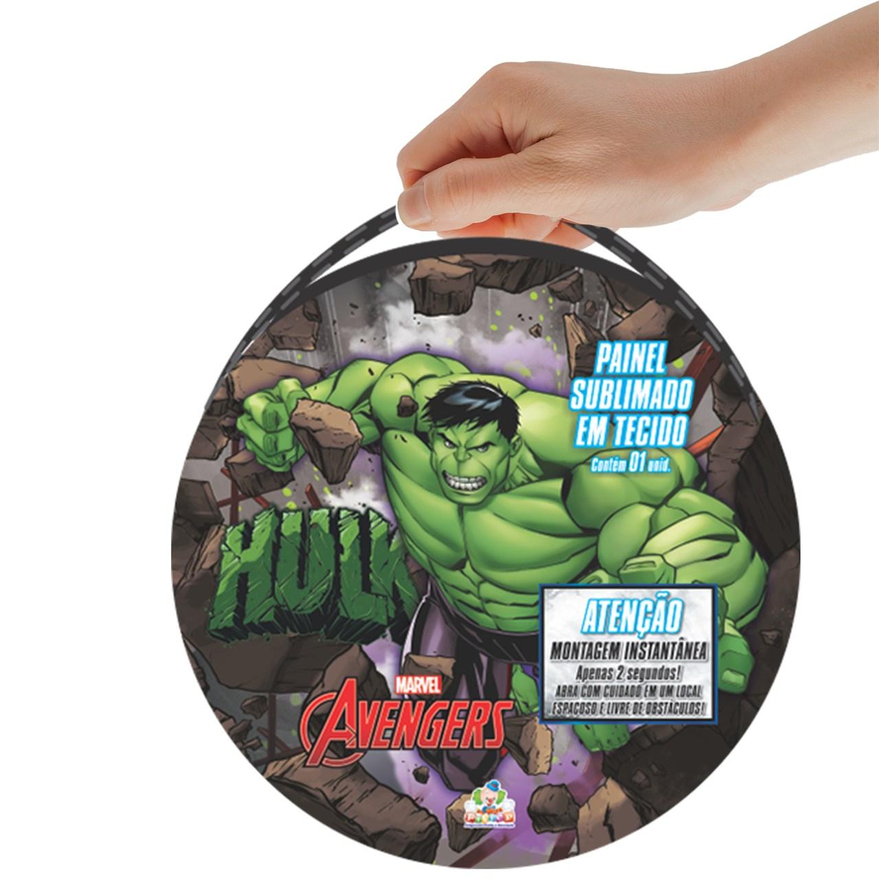 Painel Sublimado em Tecido Marvel Avengers