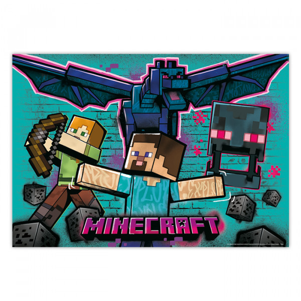 Painel de Montar Decorativo Minecraft