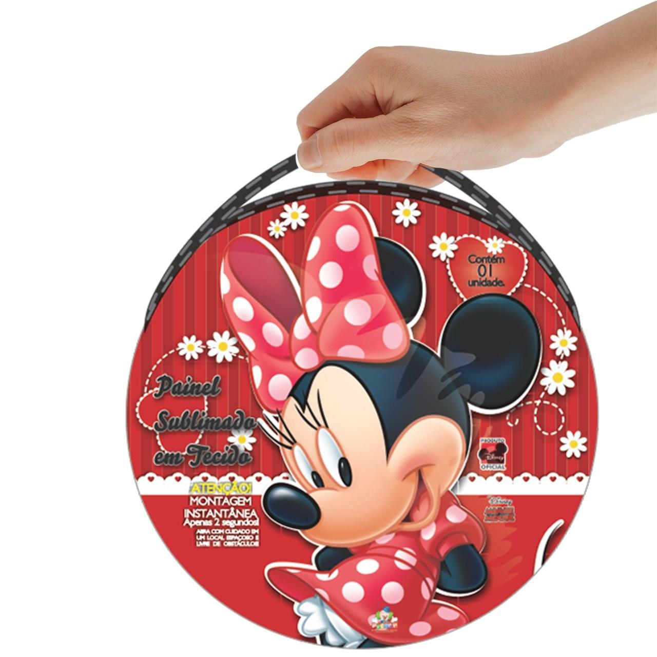 Painel Sublimado em Tecido  Minnie Mouse