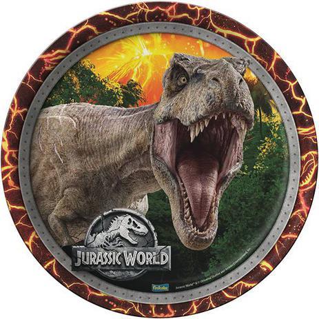 Prato 18 cm Jurassic World/ 08 Unidades