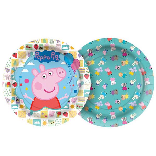 Prato 18 cm Peppa Pig Clássica / 12 unidades