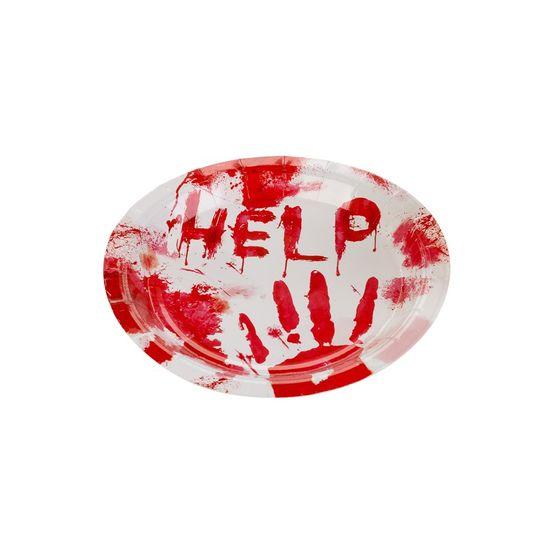 Prato De Papel 18 cm Help Halloween