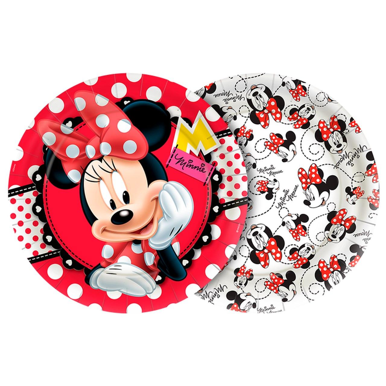 Prato de Papel Minnie Mouse