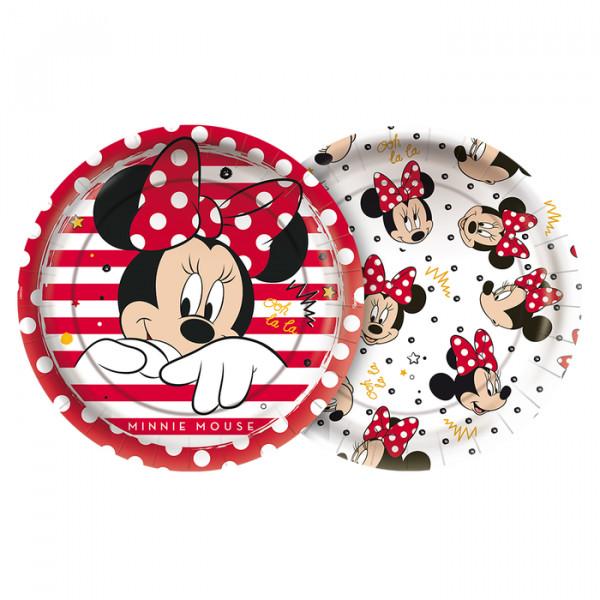 Prato de Papel Papel Minnie Mouse/ 12 Unidades