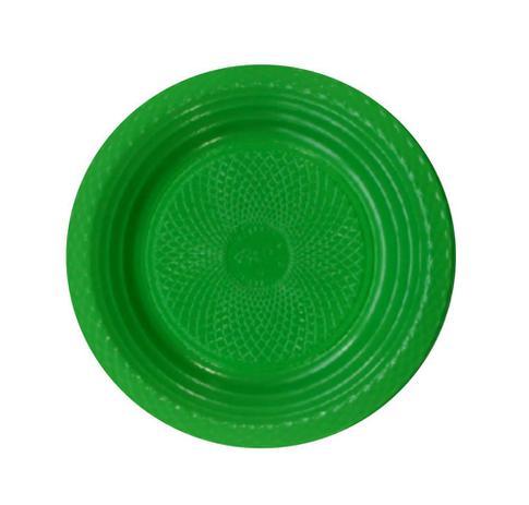 Prato de Plástico Descartável 15cm Raso