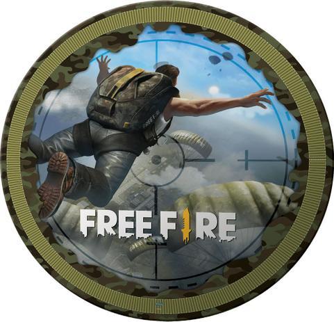 Prato Free Fire / 08 Unidades