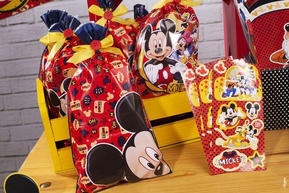 Sacola Plástica Mickey Mouse/ 08 Unidades